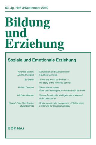 Bildung und Erziehung / Soziale und emotionale Erziehung - Harm Paschen; Una Röhr-Sendlmeier