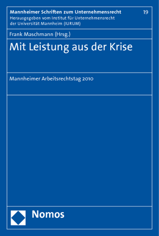 Mit Leistung aus der Krise - Frank Maschmann