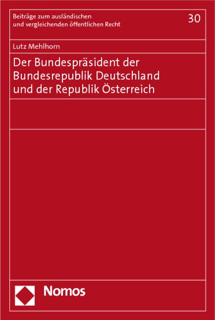 Der Bundespräsident Der Bundesrepublik Deutschland Und Von Lutz