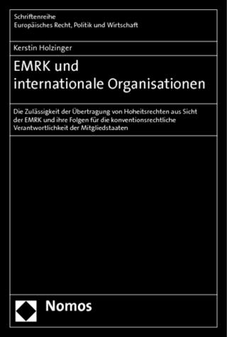 EMRK und internationale Organisationen - Kerstin Holzinger