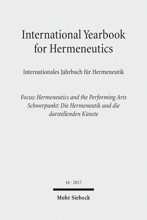 Ebook International Yearbook For Hermeneutics Von Günter Figal