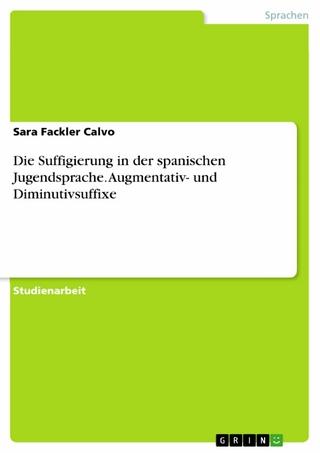 Die Suffigierung in der spanischen Jugendsprache. Augmentativ- und Diminutivsuffixe - Sara Fackler Calvo