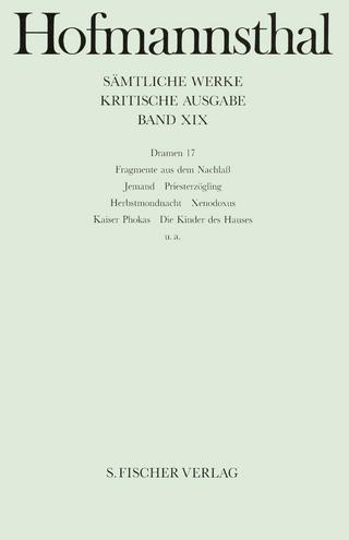 Dramen 17 - Hugo von Hofmannsthal; Ellen Ritter