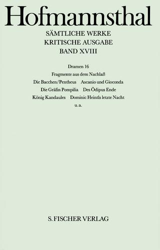 Dramen 16 - Hugo von Hofmannsthal; Ellen Ritter