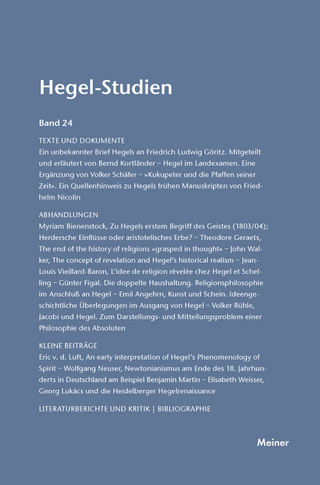 Hegel-Studien Band 24 - Friedhelm Nicolin; Otto Pöggeler