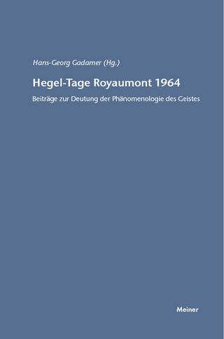 Hegel-Tage Royaumont 1964 - Hans-Georg Gadamer