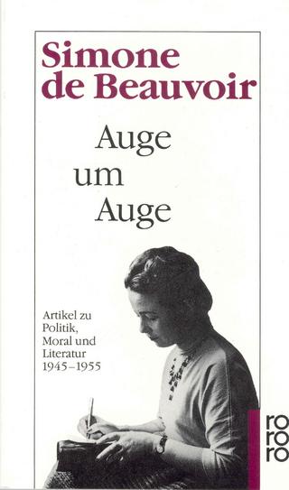 Auge um Auge - Simone de Beauvoir; Eva Groepler