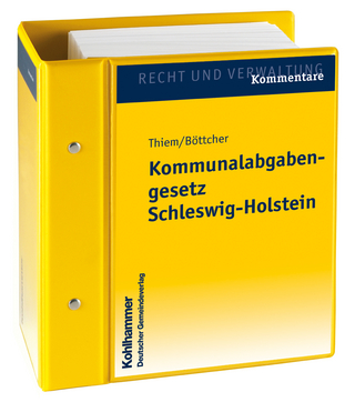 Kommunalabgabengesetz Schleswig-Holstein - Hans Thiem; Günter Böttcher