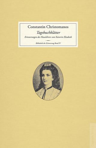 Tagebuchblätter - Constantin Christomanos