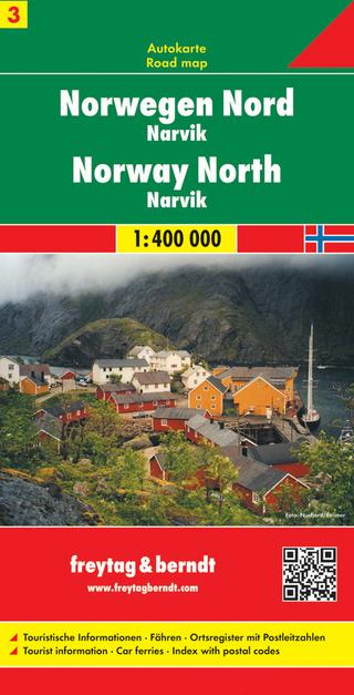 Norwegen Nord - Narvik, Autokarte 1:400.000 - Freytag-Berndt und Artaria KG