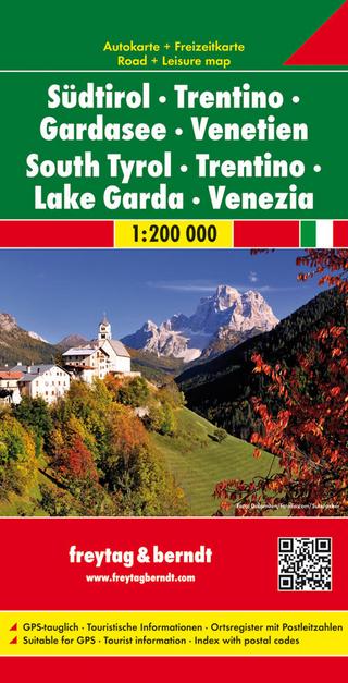 Südtirol - Trentino - Gardasee - Venetien, Autokarte 1:200.000 - Freytag-Berndt und Artaria KG