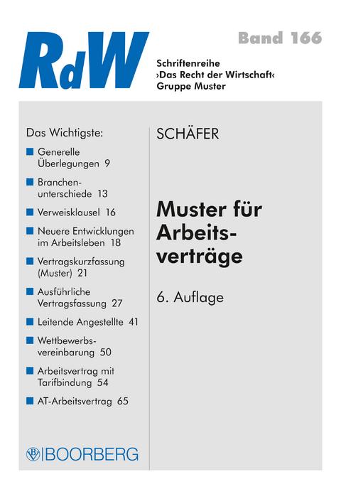 Ebook Muster Für Arbeitsverträge Von Gerd Schäfer Isbn 978 3 415