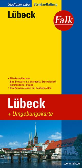 Falk Stadtplan Extra Standardfaltung Lübeck mit Ortsteilen von Bad Schwartau, Sc