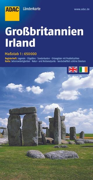 ADAC LänderKarte Großbritannien, Irland 1:650 000