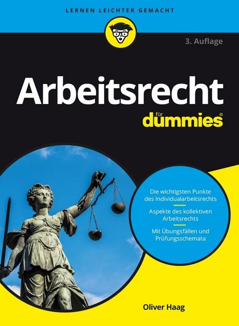 Ebook Arbeitsrecht Für Dummies Von Oliver Haag Isbn 978 3 527