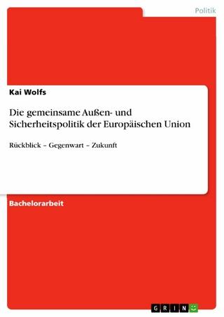 Die gemeinsame Außen- und Sicherheitspolitik der Europäischen Union - Kai Wolfs