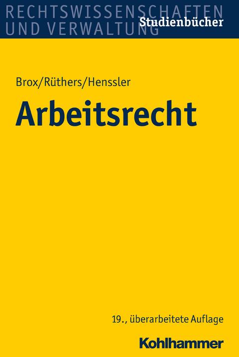Ebook Arbeitsrecht Von Hans Brox Isbn 978 3 17 029403 5 Sofort