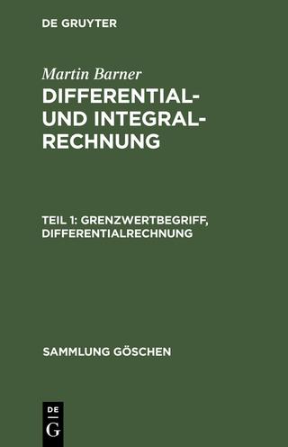 Grenzwertbegriff, Differentialrechnung - Martin Barner