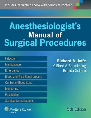 anesthesiologist s manual of surgical procedures von richard a rh lehmanns de Outpatient Surgical Procedure Process Surgical Procedure Clip Art