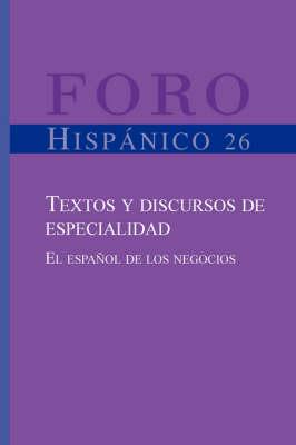 Textos y discursos de especialidad - Andreu P.J.V. van Hooft