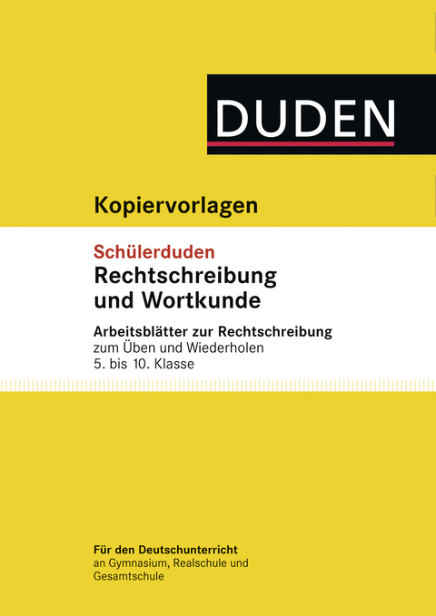 eBook: Übungsblätter Rechtschreibung zum Schülerduden… von Elke ...