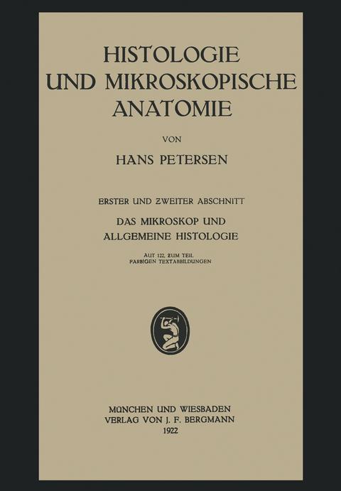 Histologie und Mikroskopische Anatomie von Hans Petersen | ISBN 978 ...