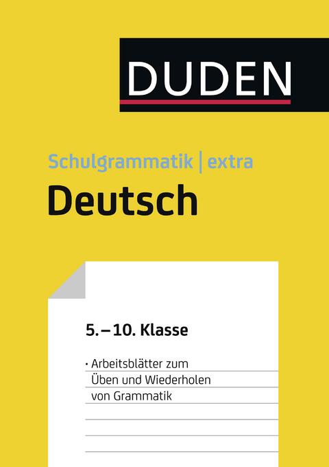 eBook: Übungsblätter Grammatik zur Duden Schulgrammatik extra… von ...