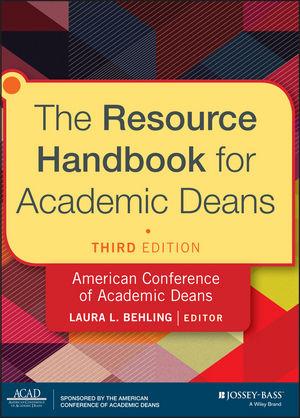 The Resource Handbook for Academic Deans von Laura L. Behling | ISBN ...