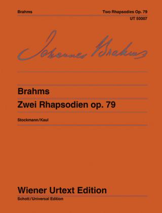Zwei Rhapsodien - Johannes Brahms; Bernhard Stockmann