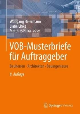 Vob Musterbriefe Für Auftraggeber Von Wolfgang Heiermann Isbn 978