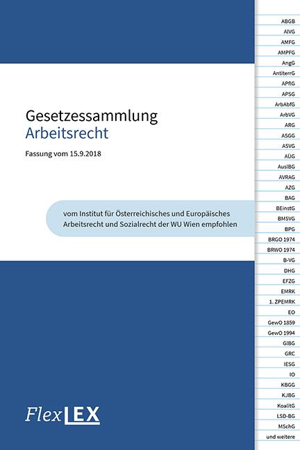 Gesetzessammlung Arbeitsrecht Von Karin Burger Ehrnhofer Isbn 978