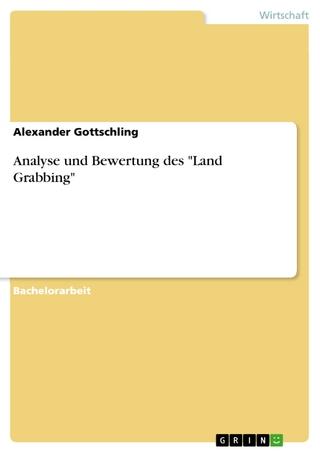 Analyse und Bewertung des 'Land Grabbing' - Alexander Gottschling
