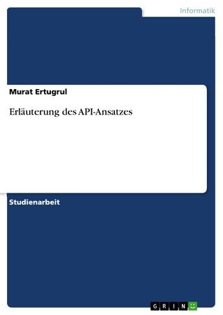 Erläuterung des API-Ansatzes - Murat Ertugrul
