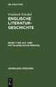 Friedrich Schubel: Englische Literaturgeschichte / Die alt- und mittelenglische Periode - Friedrich Schubel