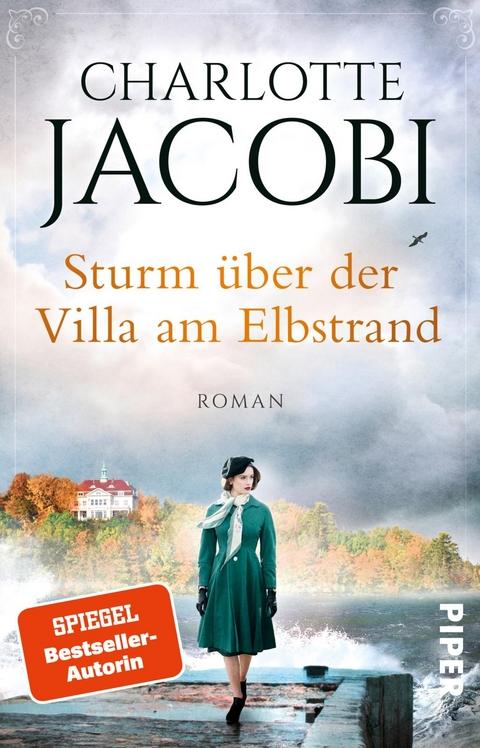 Sturm über der Villa am Elbstrand - Charlotte Jacobi