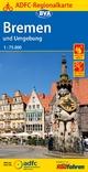 ADFC-Regionalkarte Bremen und Umgebung mit Tagestouren-Vorschlägen, 1:75.000, reiß- und wetterfest, GPS-Tracks Download