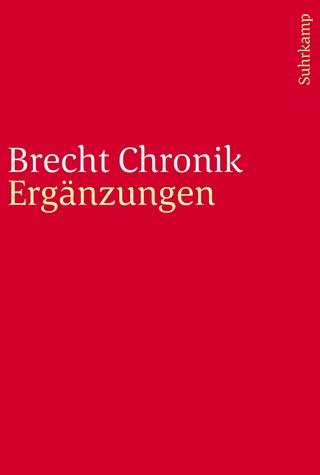 Brecht Chronik 1898?1956 - Werner Hecht