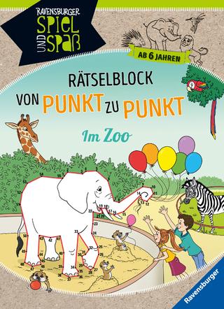 Rätselblock von Punkt zu Punkt: Im Zoo - Sybille Siegmund