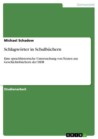 Schlagwörter in Schulbüchern - Michael Schadow