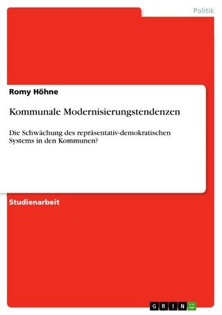 Kommunale Modernisierungstendenzen - Romy Höhne