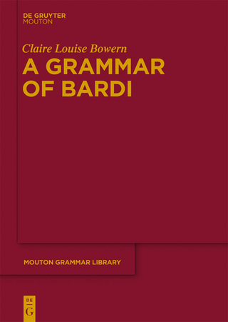 A Grammar of Bardi - Claire Bowern