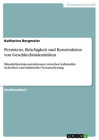 Persistenz, Brüchigkeit und Konstruktion von Geschlechtsidentitäten - Katharina Bergmaier