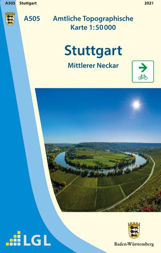 A505 Amtliche Topographische Karte 1:50 000 Stuttgart